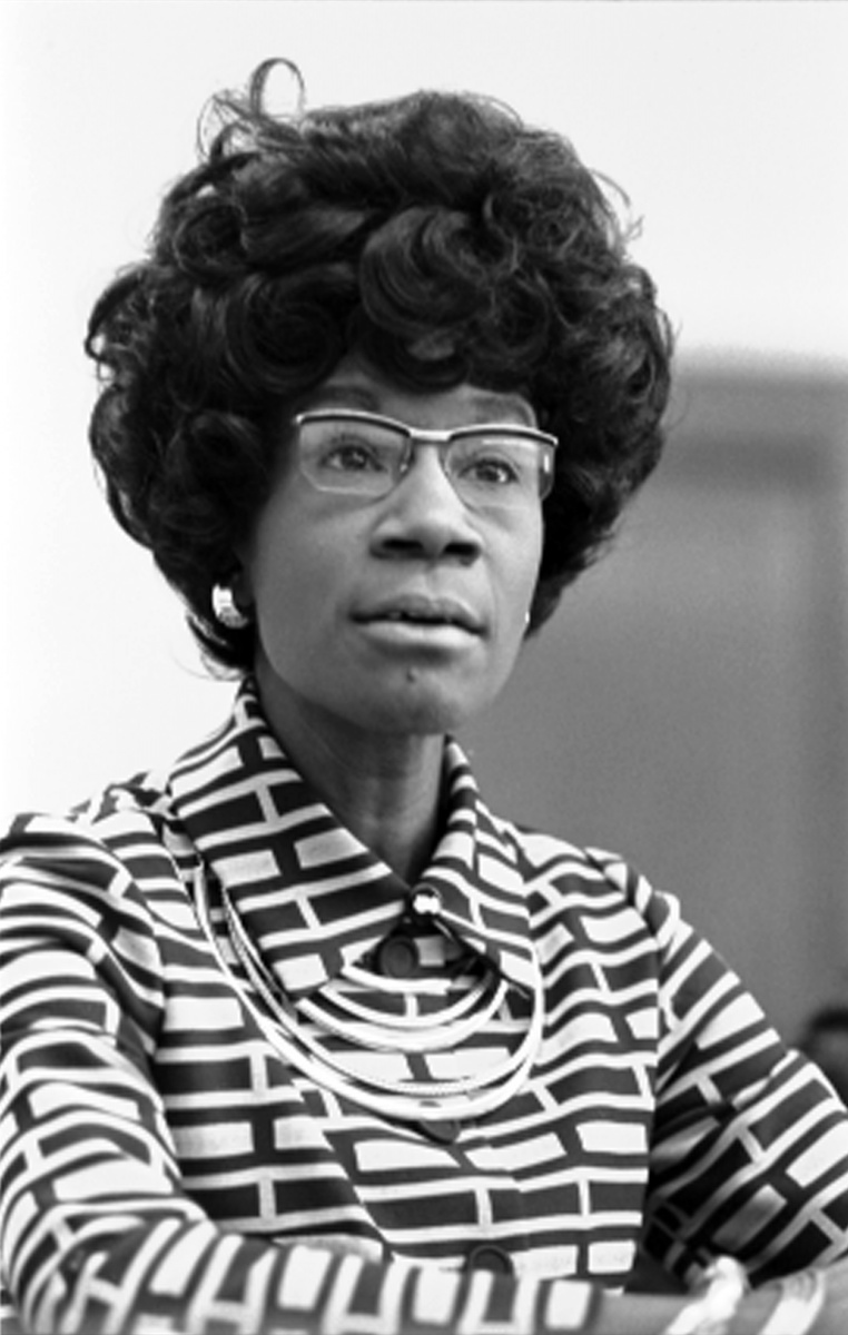 Shirley Chisholm, future member of the U.S. House of Representatives (D-NY), announcing her candidacy. - 25 January 1972