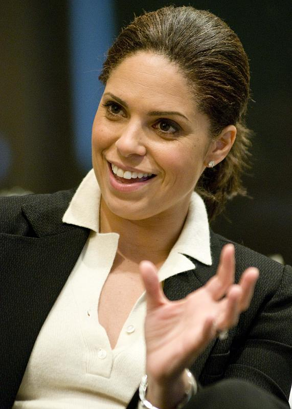 Soledad O'Brien lunch with students