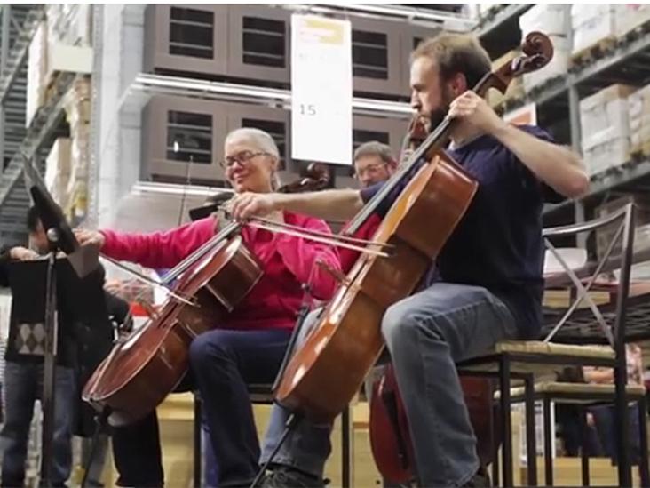 Detroit Symphony Orchestras perform at IKEA.