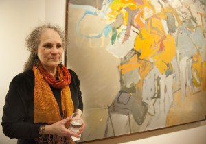 Barbara Grossman at Cajori's opening at David Findlay in 2012