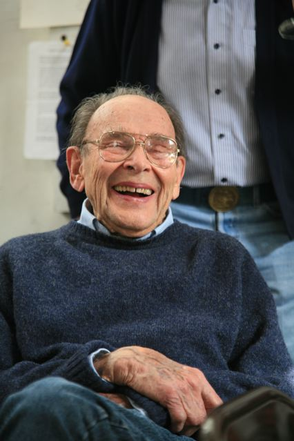 Cajori at his 90th birthday party in 2011.