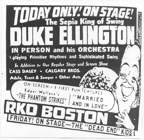 Ellington at the RKO Theater, Boston, January 1940