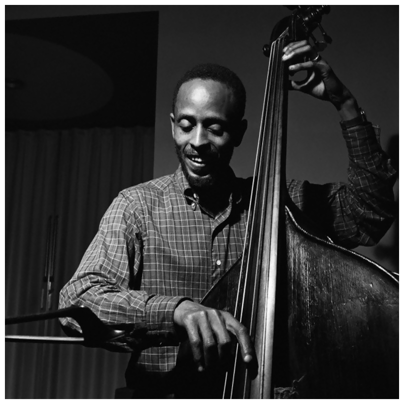 Percy Heath; photo by Francis Wolff