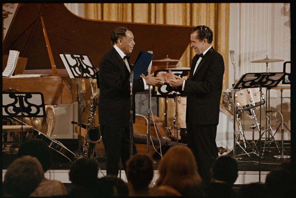 Ellington at the White House for his 70th birthday, 1969