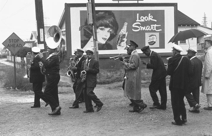 Young Tuxedo Brass Band by Lee Friedlander