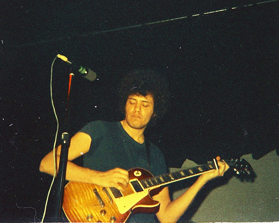 Mike Bloomfield at his reunion with Paul Butterfield, Boston, 1971; photo by Dave Agerholm