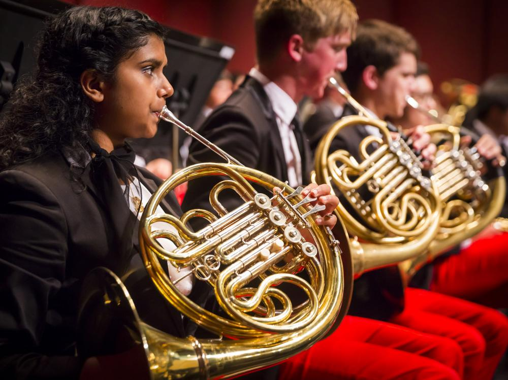 The French horns of the National Youth Orchestra of the USA — a yearly summer project organized by Carnegie Hall — rehearsed Saturday in Purchase, N.Y., in advance of their tour around the country.