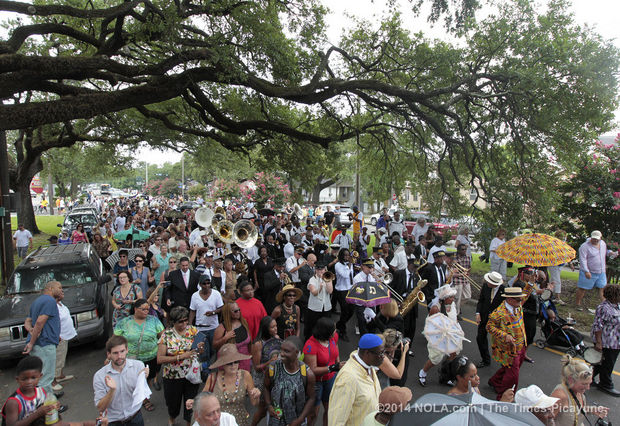 Lionel Ferbos Funeral Procession, New Orleans, August 2, 2014