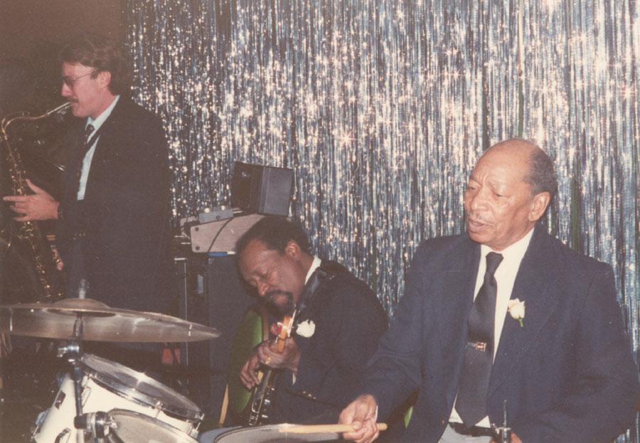Nat Simkins, tenor; Bunny Price, bass; Reggie Walley, drums; El Morocco, Worcester