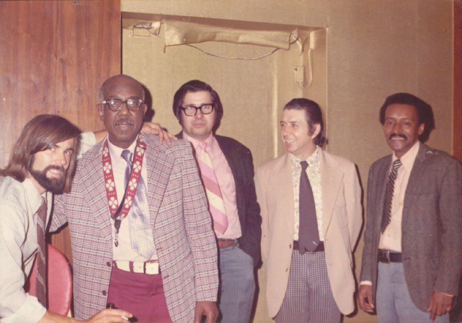 Howie Jefferson, Allen Mueller, Bobby Gould, Bunny Price and the groom