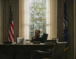 House of Cards stars Kevin Spacey as the ruthless politician Frank Underwood.