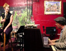 Aurora Nealand and Tom McDermott at Buffa's in New Orleans