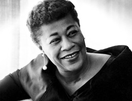 Ella Fitzgerald in 1956; photo by Phil Stern