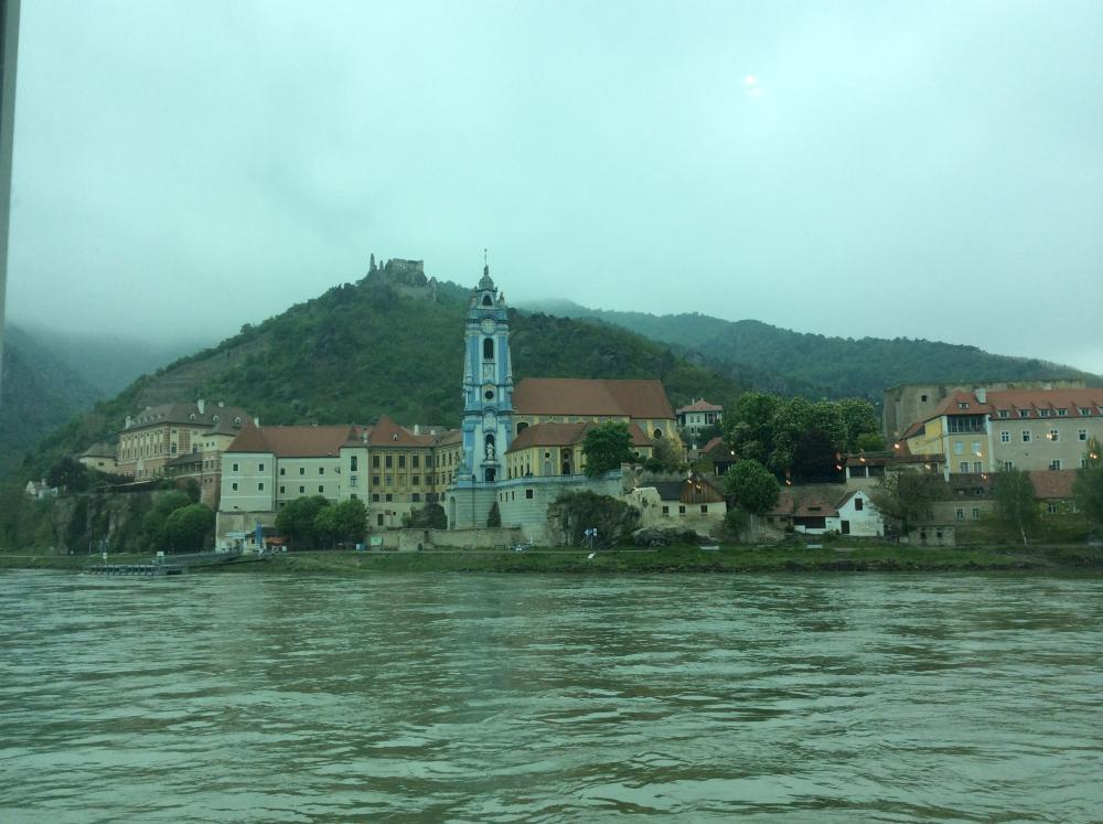 The town of Dürnstein on the Danube