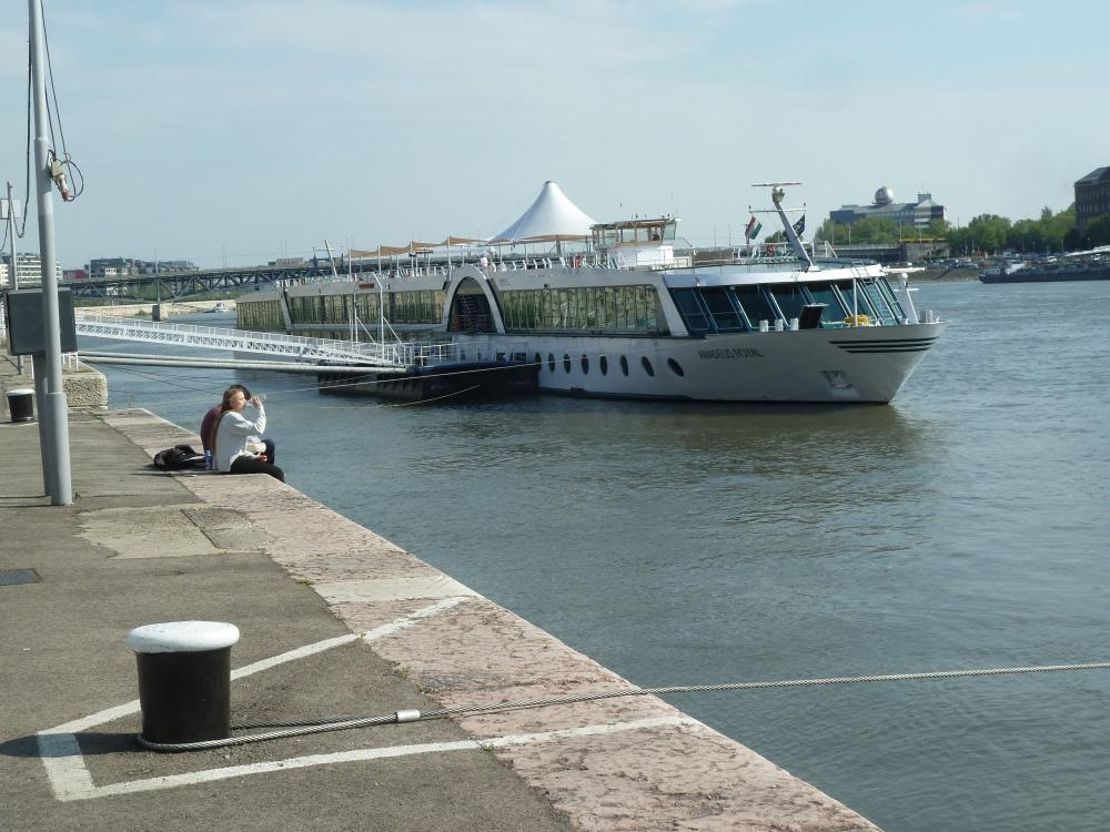 The MS Amadeus Royal docked in Budapest