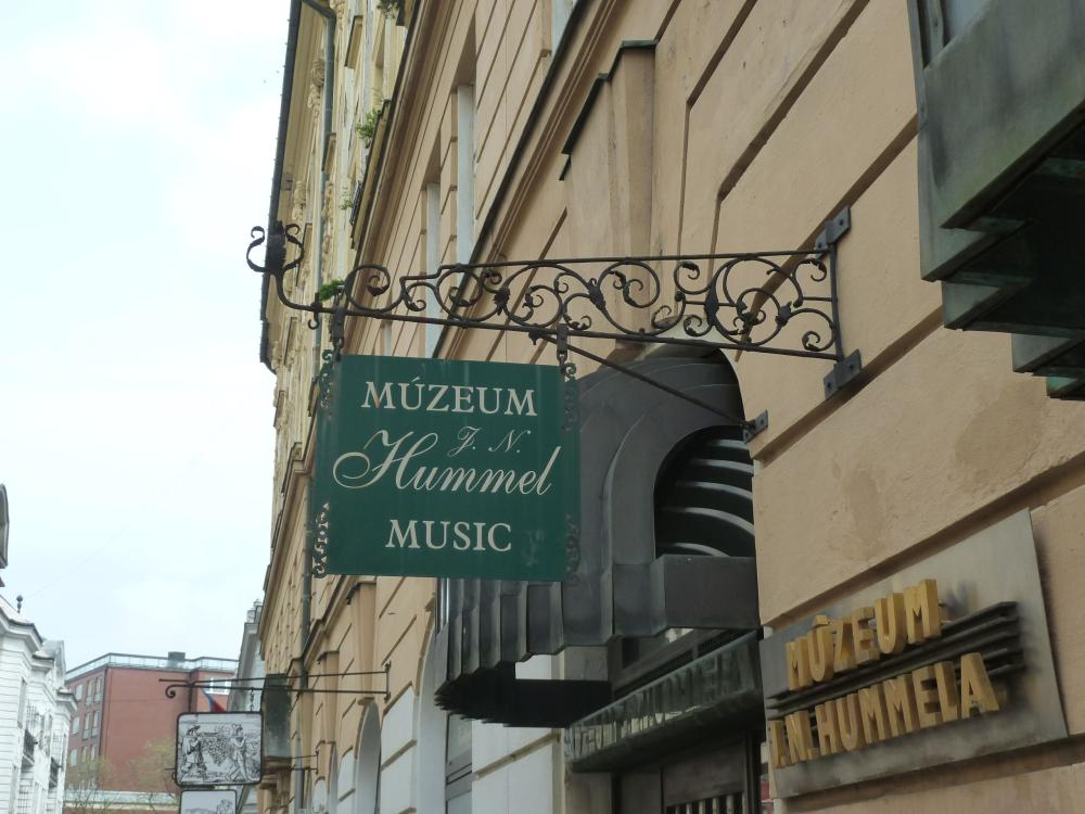 The museum in the house in Bratislava where Johann Nepomuk Hummel was born