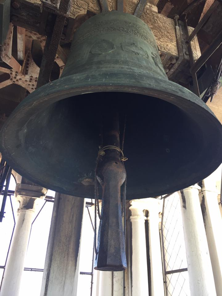 One of the bells in the campanile - VERY close overhead!
