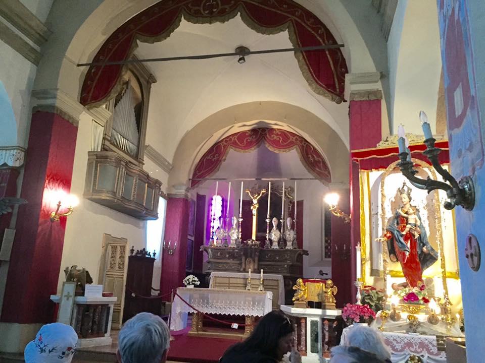 Church where Verdi played organ as a youth - interior