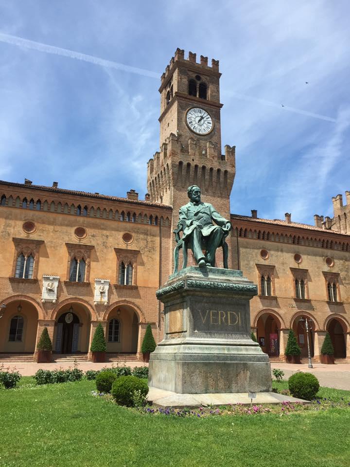 Busseto - Town hall & Giuseppe Verdi