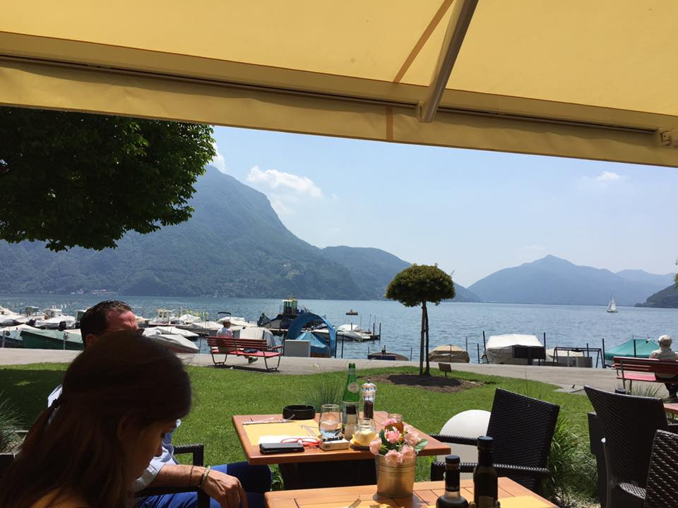 Lakeside in Lugamo for lunch