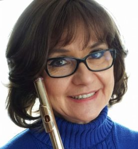 Debra Silvert, owner of the 1816 Laurent Crystal Flute