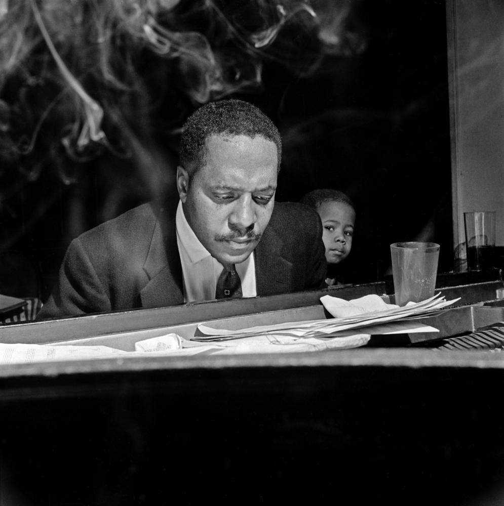 Bud Powell at Birdland, 1958; photo by Francis Wolff