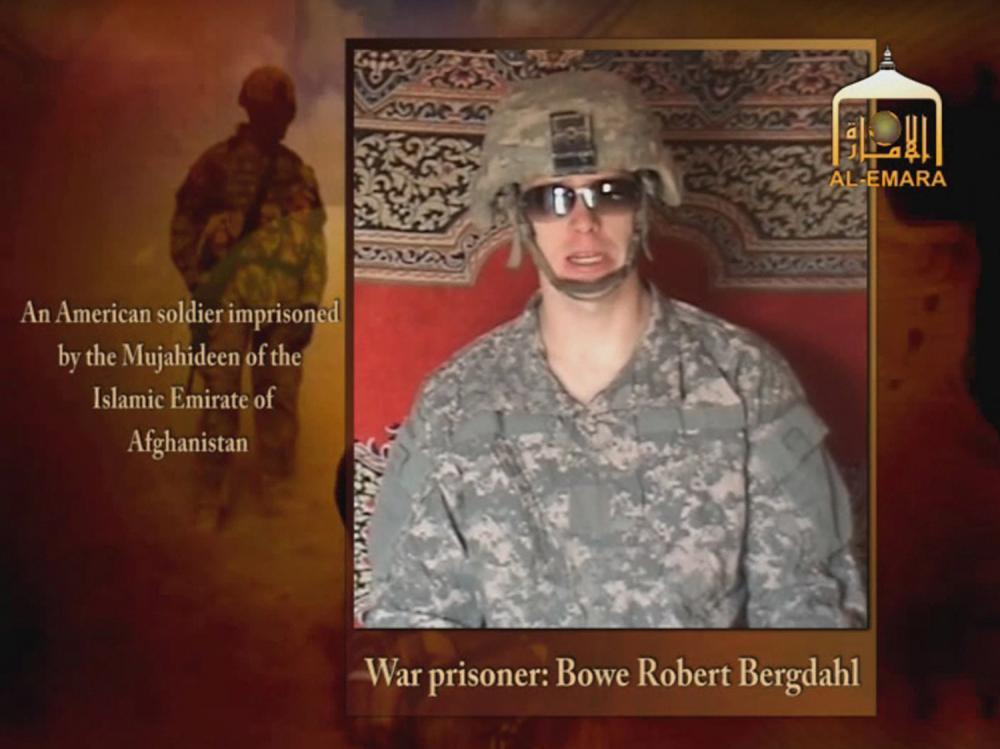 A Taliban-affiliated website shows Bowe R. Bergdahl, a U.S. soldier captured by the Taliban in southeastern Afghanistan in June, 2009, sometime after his capture by Taliban militants.