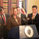 Senate President Therese Murray at a 2009 press conference.
