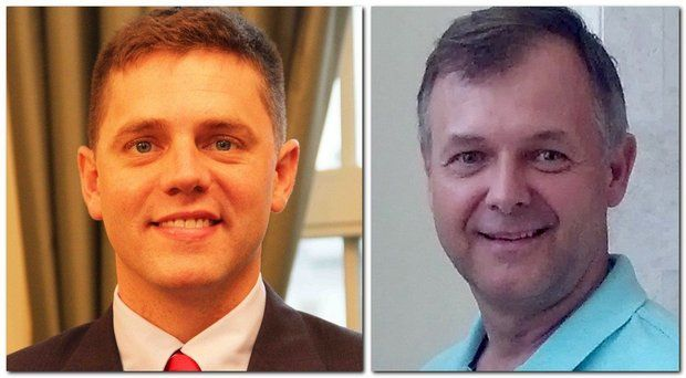 Democrat John Velis, left, and Republican Dan Allie,are running for the 4th Hampden District state representative seat.