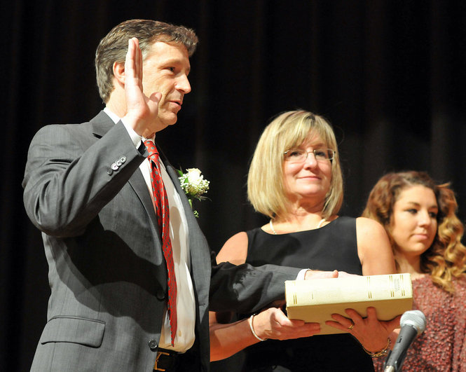 The inauguration of West Springfield Mayor Ed Sullivan took place in the West Springfield High auditorium.