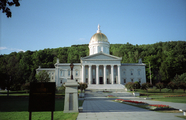 The Vermont State House in Montpelier, Vt.