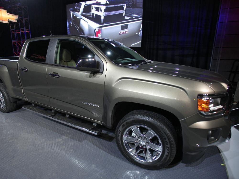 The new 2015 GMC Canyon midsize truck makes its world debut on the eve of the Press preview of the 2014 North American International Auto Show last month in Detroit, Michigan.