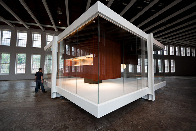 """""""Gravity is a Force to be Reckoned With"""" by Iñigo Manglano-Ovalle at MASS MoCA in 2010."""