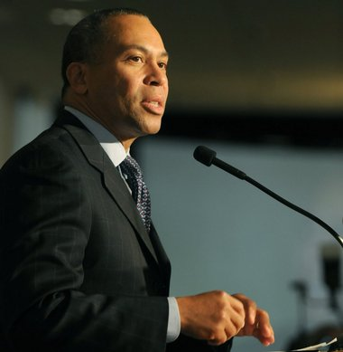 Massachusetts Gov. Deval Patrick at the University of Massachusetts in 2012.