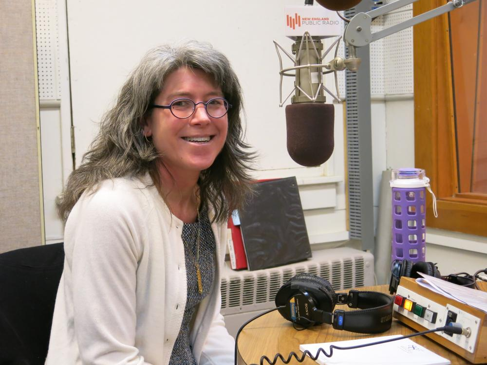 "Su Meck, co-author of ""Forgot to Remember: A Memoir of Amnesia,"" following an interview at the NEPR studios in March 2014."