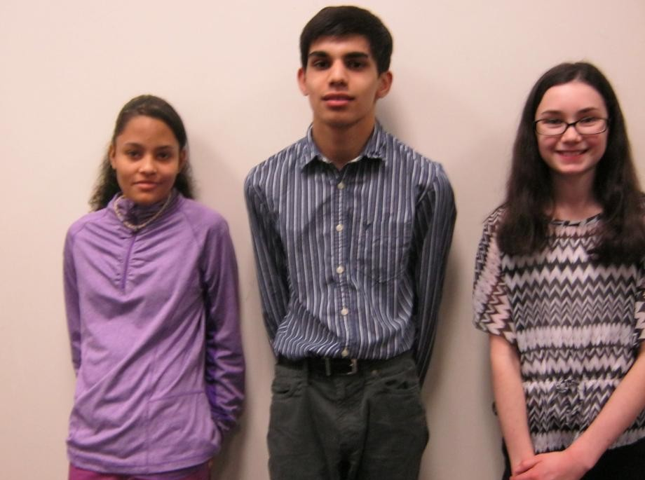 Winners of the anti-bullying playwriting contest in Hartford.