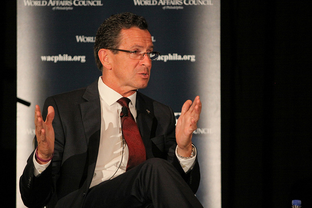 Connecticut Governor Dannel Malloy speaking in Philadelphia in October 2013.