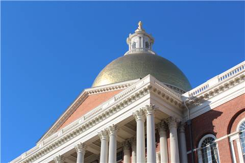 The State House Dome on Beacon Hill in Boston, Mass.