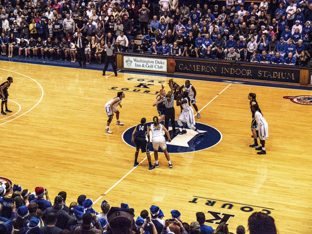UConn women's basketball plays Duke in December 2013.