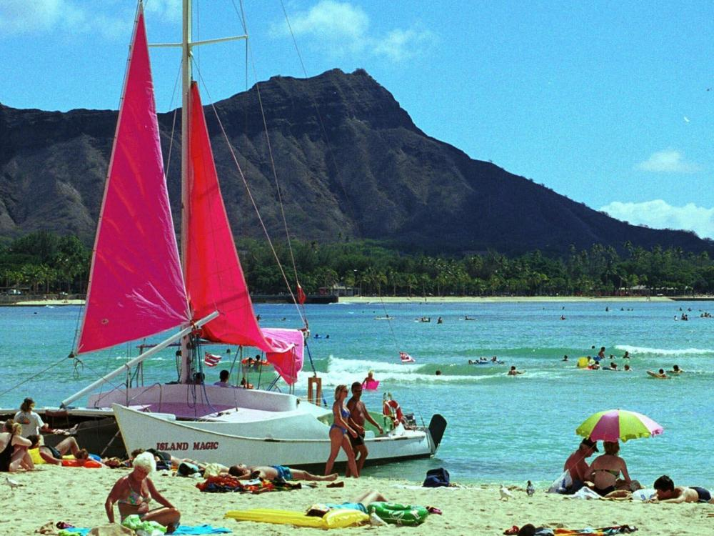 Waikiki Beach in Honolulu, Hawaii: Undercover police there say they need to be exempt from laws barring sex with prostitutes because sometimes they can't reveal themselves too soon.