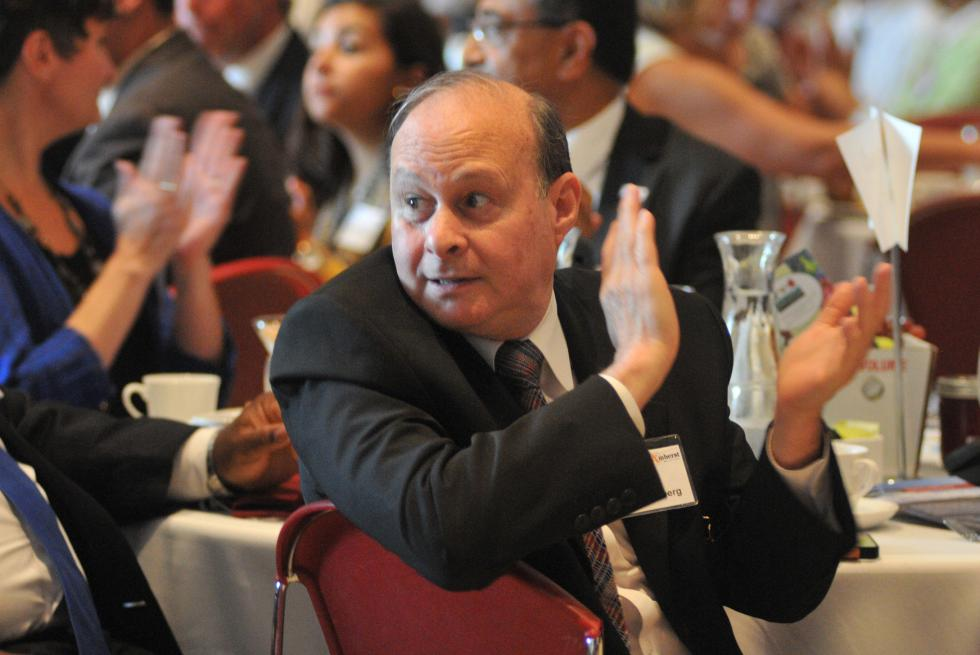 State Sen. Stanley Rosenberg attends the annual town/gown breakfast sponsored in the UMass Student Union Ballroom in August of 2013.