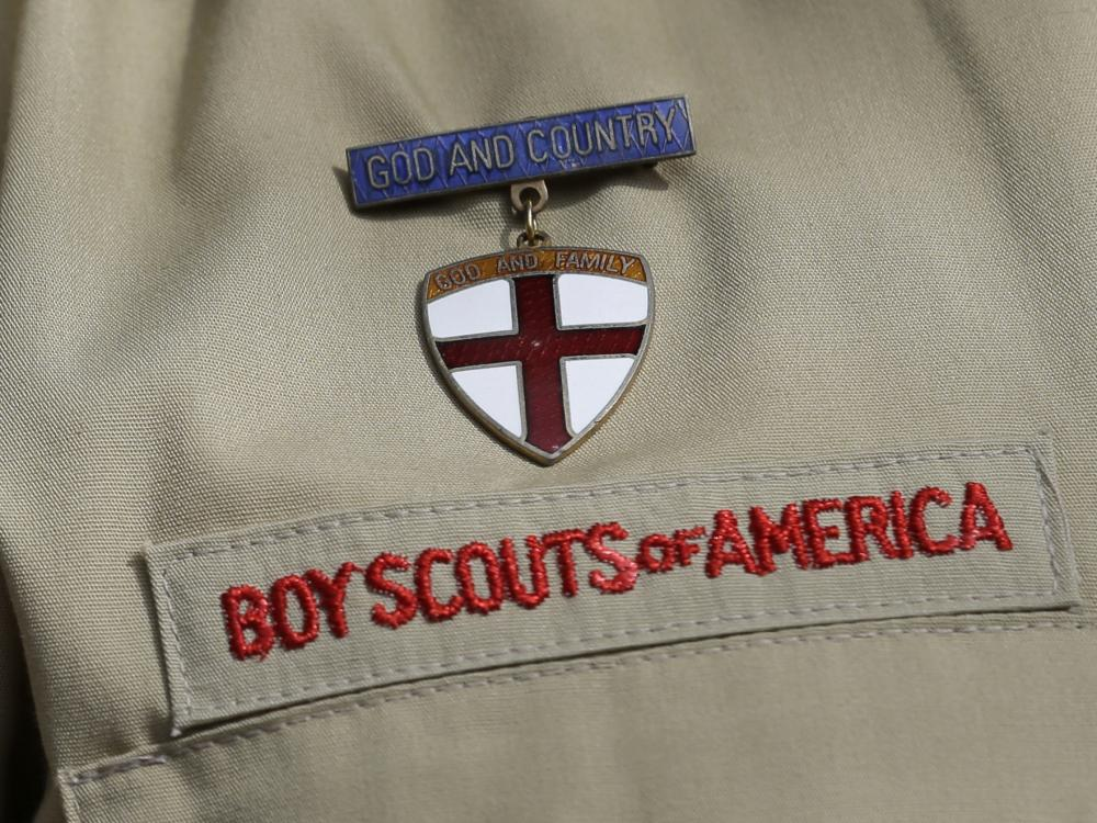 The detail of a Boy Scout uniform.