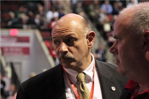 Republican gubernatorial candidate Mark Fisher looked on as Republican Party officials tallied votes at the GOP state convention in March 2014.