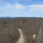 The view from Pelham fire tower on Mount Lincoln.