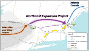 Map of the proposed Tennessee Gas Pipeline Northeast Expansion