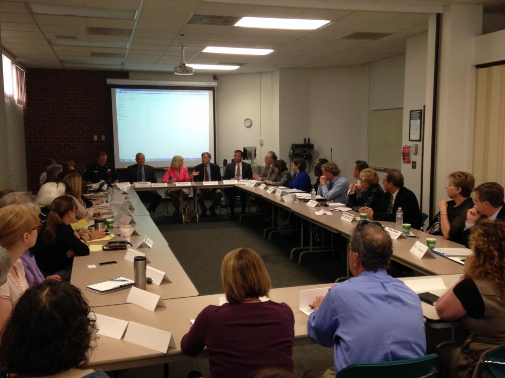 DPH Commissioner Cheryl Bartlett meets with community leaders in Greenfield, Mass. on May 30th, 2014.