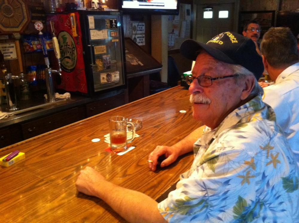 Phil Osborne, at the American Legion in Amherst, Mass.