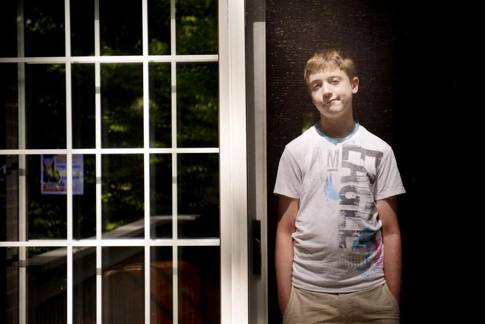 Carson Luke, 13, was injured when he was restrained at a school in Virginia at the age of 10.