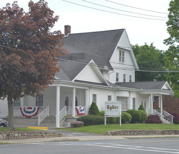 The former Ryder Funeral Home in South Hadley, MA, shut down in May 2014