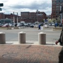 Former Commissioner of Probation John O'Brien left Moakley Courthouse on May 5, 2014.
